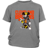 NFL - Cleveland Browns Mickey Mouse Is Wearing A Peace Necklace Disney NFL Football Shirt-T-shirt-District Youth Shirt-Sport Grey-XS-PopsSpot