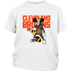 NFL - Cleveland Browns Mickey Mouse Is Wearing A Peace Necklace Disney NFL Football Shirt-T-shirt-District Youth Shirt-White-XS-PopsSpot