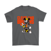 NFL - Cleveland Browns Mickey Mouse Is Wearing A Peace Necklace Disney NFL Football Shirt-T-shirt-Gildan Mens T-Shirt-Charcoal-S-PopsSpot