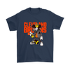 NFL - Cleveland Browns Mickey Mouse Is Wearing A Peace Necklace Disney NFL Football Shirt-T-shirt-Gildan Mens T-Shirt-Navy-S-PopsSpot