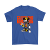 NFL - Cleveland Browns Mickey Mouse Is Wearing A Peace Necklace Disney NFL Football Shirt-T-shirt-Gildan Mens T-Shirt-Royal Blue-S-PopsSpot