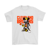 NFL - Cleveland Browns Mickey Mouse Is Wearing A Peace Necklace Disney NFL Football Shirt-T-shirt-Gildan Mens T-Shirt-White-S-PopsSpot