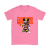 NFL - Cleveland Browns Mickey Mouse Is Wearing A Peace Necklace Disney NFL Football Shirt-T-shirt-Gildan Womens T-Shirt-Azalea-S-PopsSpot