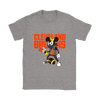 NFL - Cleveland Browns Mickey Mouse Is Wearing A Peace Necklace Disney NFL Football Shirt-T-shirt-Gildan Womens T-Shirt-Sport Grey-S-PopsSpot
