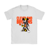NFL - Cleveland Browns Mickey Mouse Is Wearing A Peace Necklace Disney NFL Football Shirt-T-shirt-Gildan Womens T-Shirt-White-S-PopsSpot
