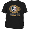 NFL - Come To The Houston Texans' Side Star Wars Shirts-T-shirt-District Youth Shirt-Black-XS-Itees Global