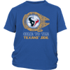 NFL - Come To The Houston Texans' Side Star Wars Shirts-T-shirt-District Youth Shirt-Royal Blue-XS-Itees Global