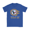 NFL - Come To The Houston Texans' Side Star Wars Shirts-T-shirt-Gildan Womens T-Shirt-Royal Blue-S-Itees Global