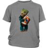 NFL - Dallas Cowboys Guardians Of The Galaxy Groot Football NFL Shirts-T-shirt-District Youth Shirt-Sport Grey-XS-Itees Global