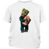 NFL - Dallas Cowboys Guardians Of The Galaxy Groot Football NFL Shirts-T-shirt-District Youth Shirt-White-XS-Itees Global