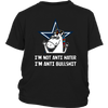 NFL - Dallas Cowboys I'm Not Anti Hater I'm Anti Bullshit Unicorn Football NFL Shirts-T-shirt-District Youth Shirt-Black-XS-Itees Global