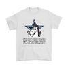 NFL - Dallas Cowboys I'm Not Anti Hater I'm Anti Bullshit Unicorn Football NFL Shirts-T-shirt-Gildan Mens T-Shirt-White-S-Itees Global