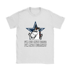 NFL - Dallas Cowboys I'm Not Anti Hater I'm Anti Bullshit Unicorn Football NFL Shirts-T-shirt-Gildan Womens T-Shirt-White-S-Itees Global