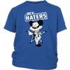 NFL - Dallas Cowboys Mickey Mouse Hey Haters Shirts-T-shirt-District Youth Shirt-Royal Blue-XS-Itees Global