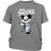 NFL - Dallas Cowboys Mickey Mouse Hey Haters Shirts-T-shirt-District Youth Shirt-Sport Grey-XS-Itees Global