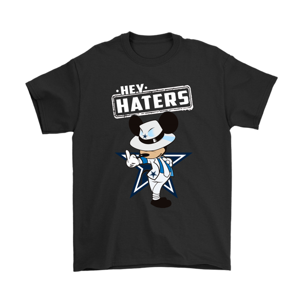 NFL - Dallas Cowboys Mickey Mouse Hey Haters Shirts-T-shirt-Gildan Mens T-Shirt-Black-S-Itees Global