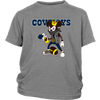 NFL - Dallas Cowboys Mickey Mouse Is Wearing A Peace Necklace Disney NFL Football Shirt-T-shirt-District Youth Shirt-Sport Grey-XS-PopsSpot