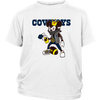 NFL - Dallas Cowboys Mickey Mouse Is Wearing A Peace Necklace Disney NFL Football Shirt-T-shirt-District Youth Shirt-White-XS-PopsSpot
