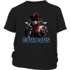 NFL – Dallas Cowboys Thor Captain America Spiderman Shirts-T-shirt-District Youth Shirt-Black-XS-Itees Global