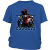 NFL – Dallas Cowboys Thor Captain America Spiderman Shirts-T-shirt-District Youth Shirt-Royal Blue-XS-Itees Global