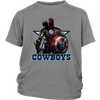NFL – Dallas Cowboys Thor Captain America Spiderman Shirts-T-shirt-District Youth Shirt-Sport Grey-XS-Itees Global