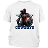 NFL – Dallas Cowboys Thor Captain America Spiderman Shirts-T-shirt-District Youth Shirt-White-XS-Itees Global