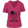 NFL - Dallas Cowboys Unbreakable American Football Shirts-T-shirt-District Womens V-Neck-Dark Fuchsia-S-Itees Global