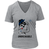 NFL - Dallas Cowboys Unbreakable American Football Shirts-T-shirt-District Womens V-Neck-Heathered Nickel-S-Itees Global