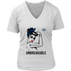 NFL - Dallas Cowboys Unbreakable American Football Shirts-T-shirt-District Womens V-Neck-White-S-Itees Global