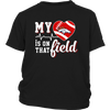 NFL - Denver Broncos My Heart Is On That Field Shirts-T-shirt-District Youth Shirt-Black-XS-PopsSpot