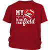 NFL - Denver Broncos My Heart Is On That Field Shirts-T-shirt-District Youth Shirt-Red-XS-PopsSpot