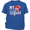 NFL - Denver Broncos My Heart Is On That Field Shirts-T-shirt-District Youth Shirt-Royal Blue-XS-PopsSpot