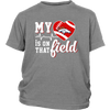 NFL - Denver Broncos My Heart Is On That Field Shirts-T-shirt-District Youth Shirt-Sport Grey-XS-PopsSpot