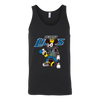 NFL - Detroit Lions Mickey Mouse Is Wearing A Peace Necklace Disney NFL Football Shirt-T-shirt-Canvas Unisex Tank-Black-S-PopsSpot