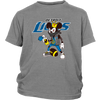 NFL - Detroit Lions Mickey Mouse Is Wearing A Peace Necklace Disney NFL Football Shirt-T-shirt-District Youth Shirt-Sport Grey-XS-PopsSpot