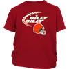 NFL – Dilly Dilly Cleveland Browns Football Shirts-T-shirt-District Youth Shirt-Red-XS-PopsSpot