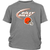 NFL – Dilly Dilly Cleveland Browns Football Shirts-T-shirt-District Youth Shirt-Sport Grey-XS-PopsSpot