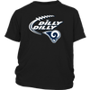 NFL – Dilly Dilly Los Angeles Rams Football Shirts-T-shirt-District Youth Shirt-Black-XS-PopsSpot