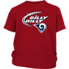NFL – Dilly Dilly Los Angeles Rams Football Shirts-T-shirt-District Youth Shirt-Red-XS-PopsSpot