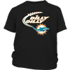 NFL – Dilly Dilly Miami Dolphins Football Shirts-T-shirt-District Youth Shirt-Black-XS-PopsSpot