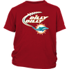 NFL – Dilly Dilly Miami Dolphins Football Shirts-T-shirt-District Youth Shirt-Red-XS-PopsSpot