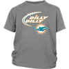 NFL – Dilly Dilly Miami Dolphins Football Shirts-T-shirt-District Youth Shirt-Sport Grey-XS-PopsSpot