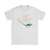 NFL – Dilly Dilly Miami Dolphins Football Shirts-T-shirt-Gildan Womens T-Shirt-White-S-PopsSpot