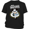 NFL - Green Bay Packers Mickey Mouse Hey Haters Shirts-T-shirt-District Youth Shirt-Black-XS-PopsSpot