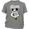 NFL - Green Bay Packers Mickey Mouse Hey Haters Shirts-T-shirt-District Youth Shirt-Sport Grey-XS-PopsSpot
