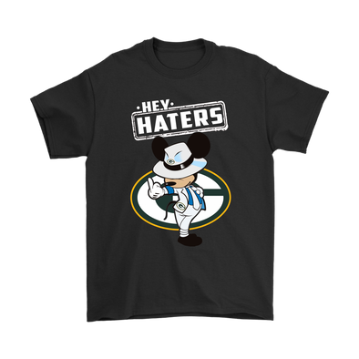 NFL - Green Bay Packers Mickey Mouse Hey Haters Shirts-T-shirt-Gildan Mens T-Shirt-Black-S-PopsSpot