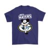 NFL - Green Bay Packers Mickey Mouse Hey Haters Shirts-T-shirt-Gildan Mens T-Shirt-Purple-S-PopsSpot