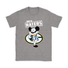 NFL - Green Bay Packers Mickey Mouse Hey Haters Shirts-T-shirt-Gildan Womens T-Shirt-Sport Grey-S-PopsSpot