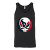 NFL - Houston Texans Grateful Dead Steal Your Face Football NFL Shirts-T-shirt-Canvas Unisex Tank-Black-S-Itees Global