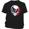 NFL - Houston Texans Grateful Dead Steal Your Face Football NFL Shirts-T-shirt-District Youth Shirt-Black-XS-Itees Global